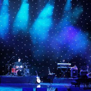 3 x Large LED Star Cloth Backdrops